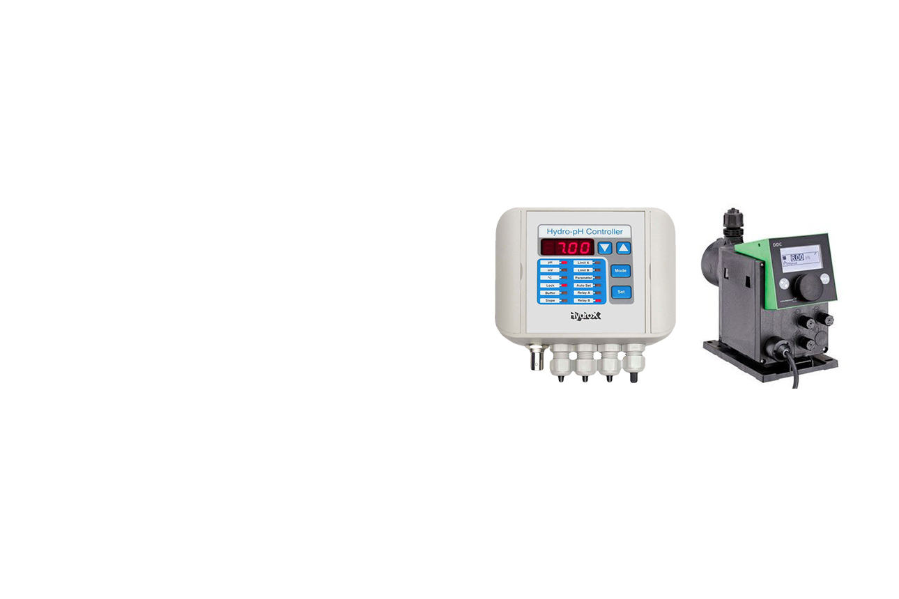pH-Controller und Dosierpumpe Grundfos